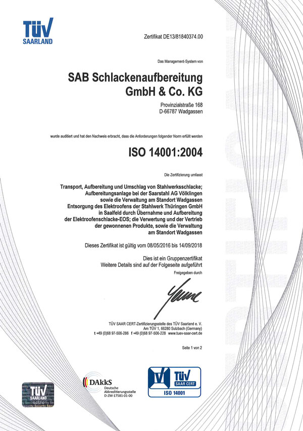 sab Zertifikat